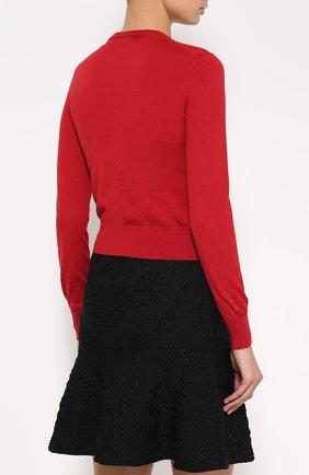 Кашемировый кардиган с круглым вырезом Dolce & Gabbana красный   Фото №4