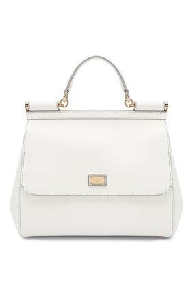 Сумка Sicily medium new Dolce & Gabbana белая цвета | Фото №1