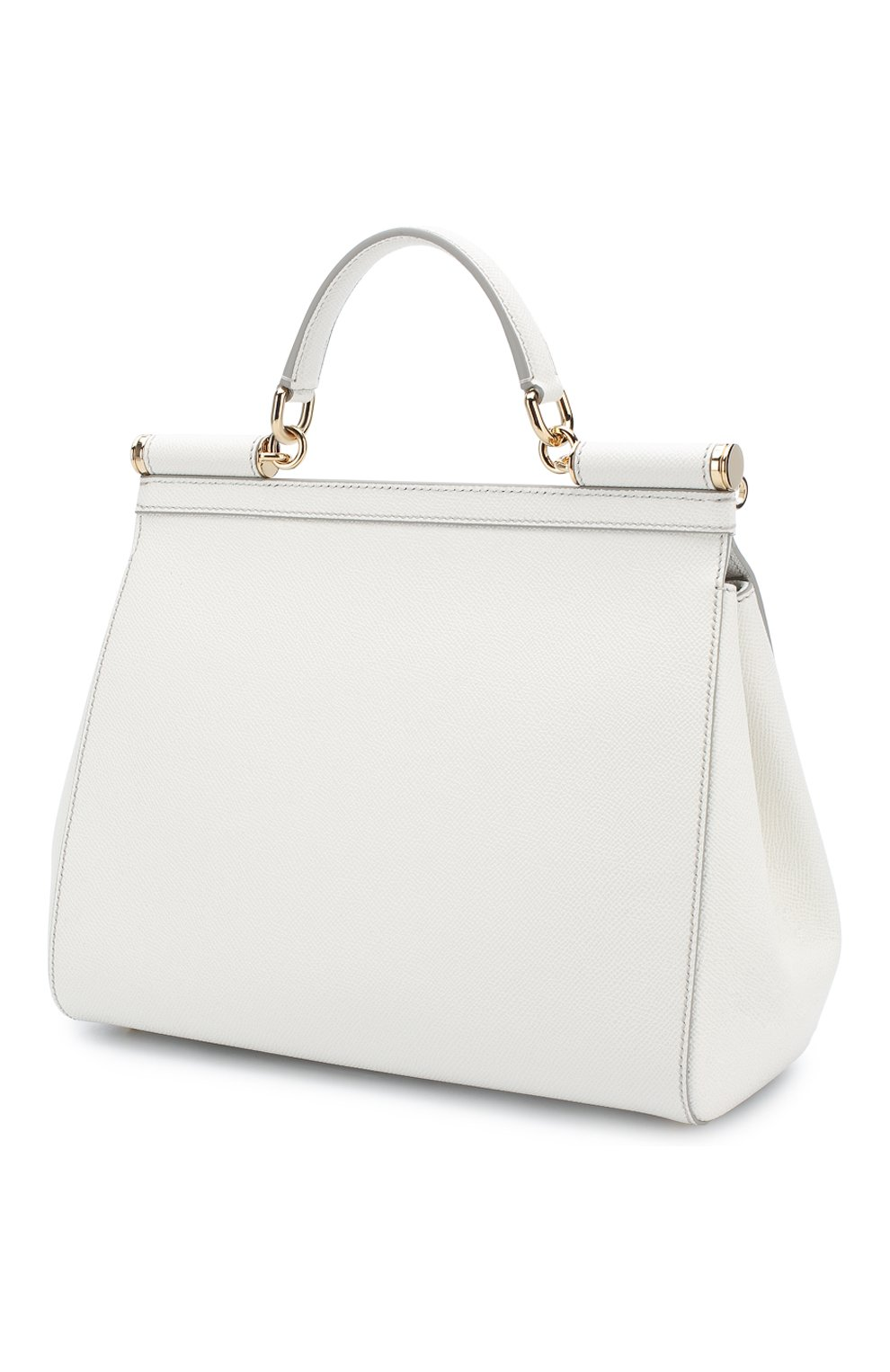 Сумка Sicily medium new Dolce & Gabbana белая цвета | Фото №3