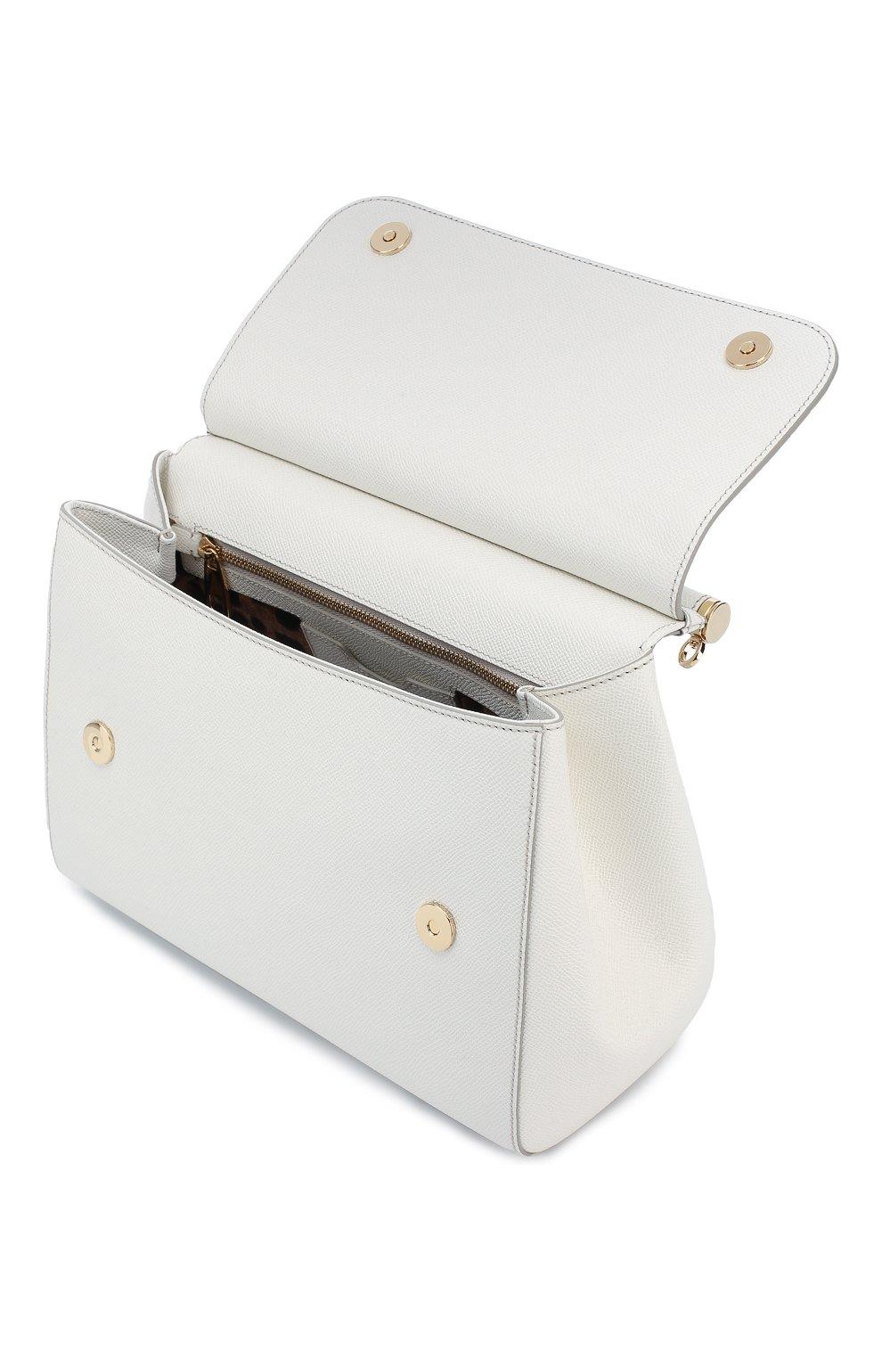 Сумка Sicily medium new Dolce & Gabbana белая цвета | Фото №4