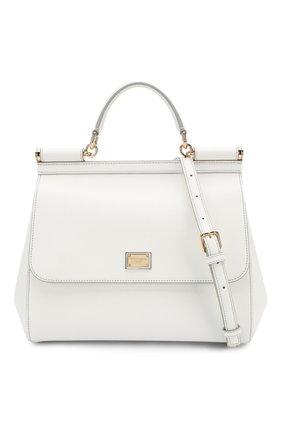 Сумка Sicily medium new Dolce & Gabbana белая цвета | Фото №6
