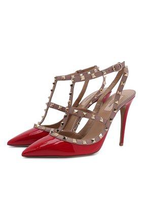Женская кожаные туфли valentino garavani rockstud VALENTINO красного цвета, арт. ZW2S0393/VNW | Фото 1