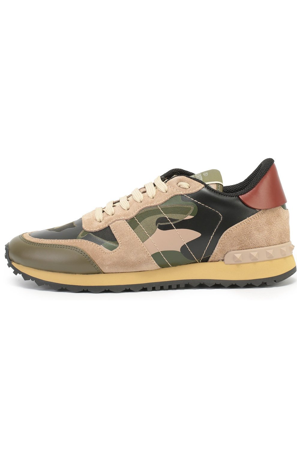 Комбинированные кроссовки Valentino Garavani Camouflage с принтом   Фото №3 d967becbd15