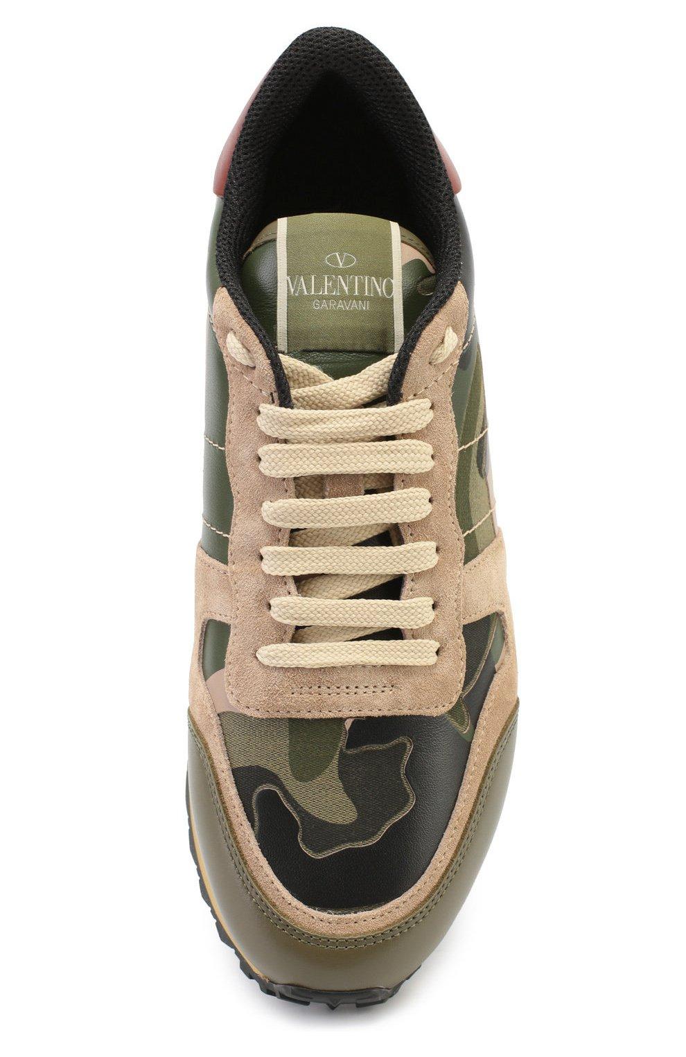 Комбинированные кроссовки Valentino Garavani Camouflage с принтом   Фото №5 d140cc3e864