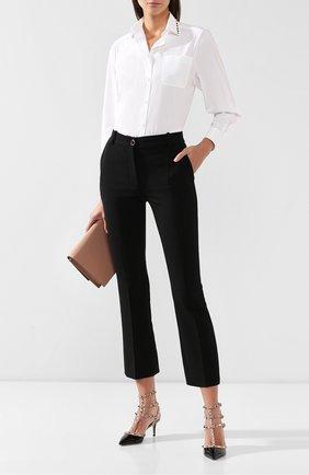 Женская лаковые туфли valentino garavani rockstud с ремешками VALENTINO черного цвета, арт. ZW2S0375/VNW | Фото 2