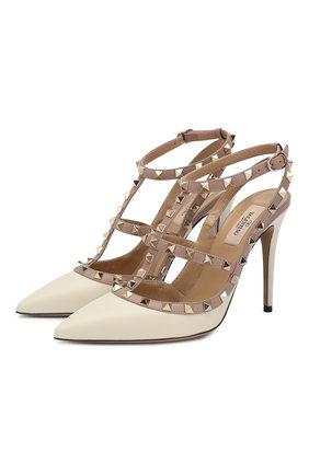 Женская кожаные туфли valentino garavani rockstud VALENTINO белого цвета, арт. ZW2S0393/V0D | Фото 1