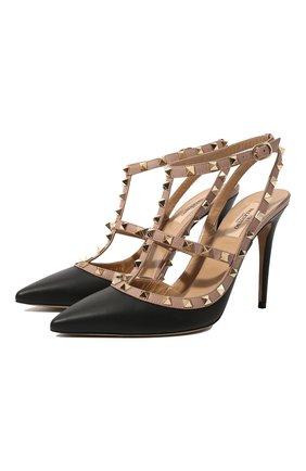 Женская кожаные туфли valentino garavani rockstud VALENTINO черного цвета, арт. ZW2S0393/V0D | Фото 1