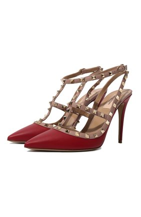 Кожаные туфли Valentino Garavani Rockstud | Фото №1