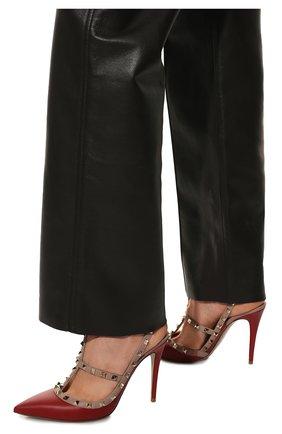 Женские кожаные туфли valentino garavani rockstud VALENTINO красного цвета, арт. ZW2S0393/V0D   Фото 3