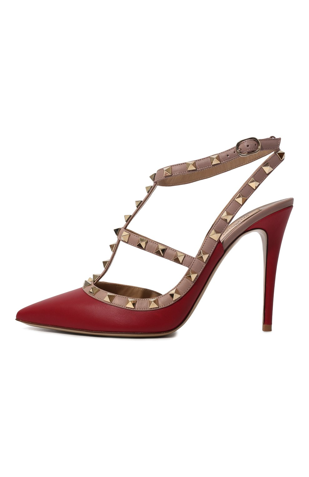 Женские кожаные туфли valentino garavani rockstud VALENTINO красного цвета, арт. ZW2S0393/V0D   Фото 4