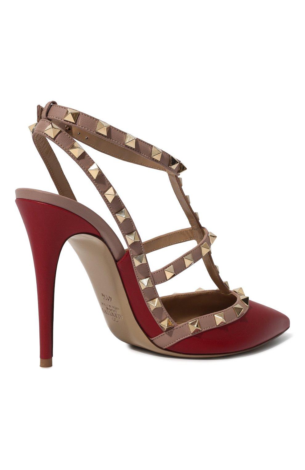 Женские кожаные туфли valentino garavani rockstud VALENTINO красного цвета, арт. ZW2S0393/V0D   Фото 5