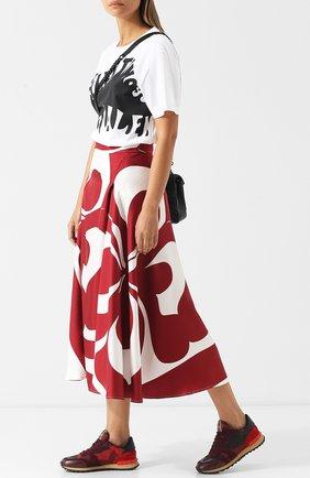 Женские комбинированные кроссовки valentino garavani camouflage с принтом VALENTINO красного цвета, арт. ZW2S0291/TCC | Фото 2