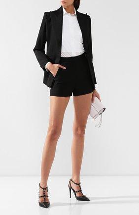 Женские кожаные туфли valentino garavani rockstud на шпильке VALENTINO черного цвета, арт. ZW2S0393/V0G | Фото 2