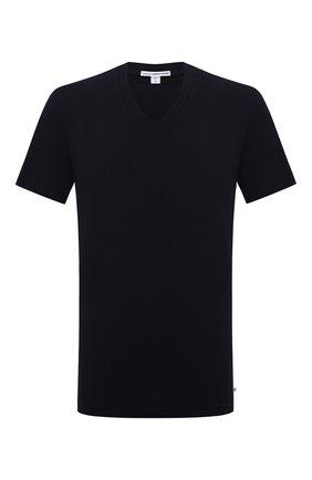 Мужская хлопковая футболка JAMES PERSE темно-синего цвета, арт. MLJ3352 | Фото 1
