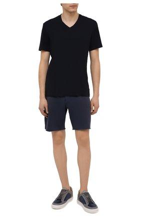 Мужская хлопковая футболка JAMES PERSE темно-синего цвета, арт. MLJ3352 | Фото 2