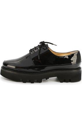 Лаковые ботинки Dingo на шнуровке Steiger синие | Фото №1