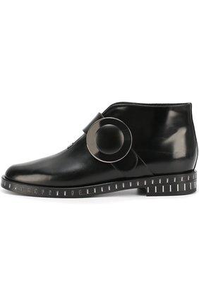 Кожаные ботинки с круглой пряжкой | Фото №1