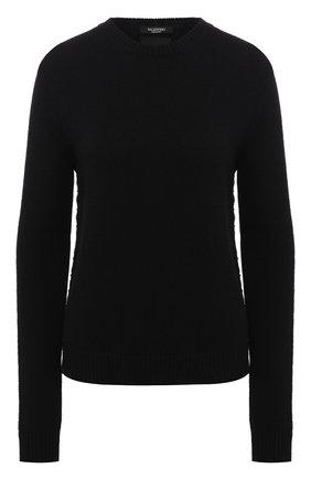 Женская кашемировый пуловер VALENTINO черного цвета, арт. LB0KC16N/2TD   Фото 1