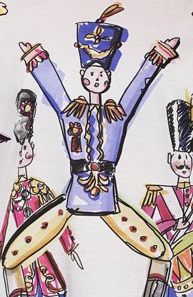 Футболка прямого кроя с удлиненным рукавом и ярким принтом Dolce & Gabbana разноцветная | Фото №5
