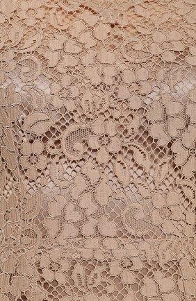 Приталенное кружевное платье с длинным рукавом | Фото №5