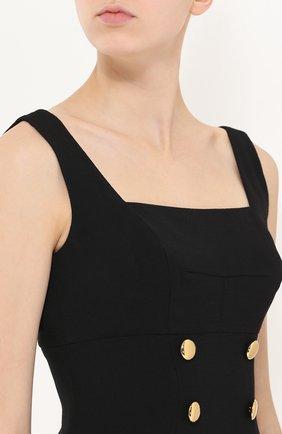 Приталенный сарафан с контрастными пуговицами Dolce & Gabbana черное | Фото №5