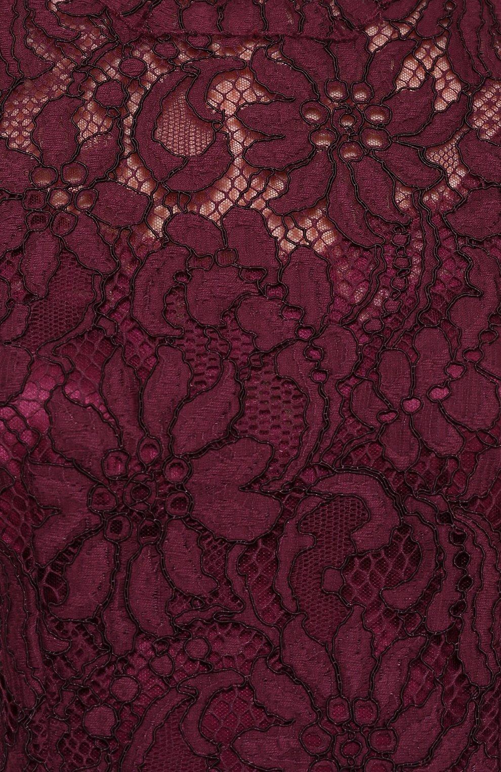 Кружевное приталенное платье без рукавов Dolce & Gabbana фиолетовое   Фото №5