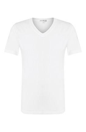 Мужская хлопковая футболка JAMES PERSE белого цвета, арт. MLJ3352 | Фото 1