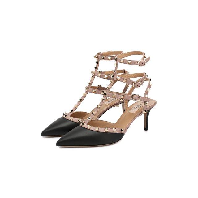 Кожаные туфли Valentino Garavani Rockstud с ремешками Valentino