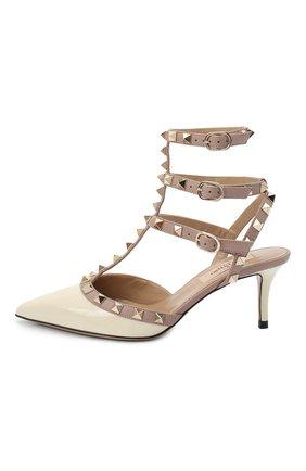 Женская лаковые туфли valentino garavani rockstud с ремешками VALENTINO белого цвета, арт. ZW2S0375/VNW | Фото 2