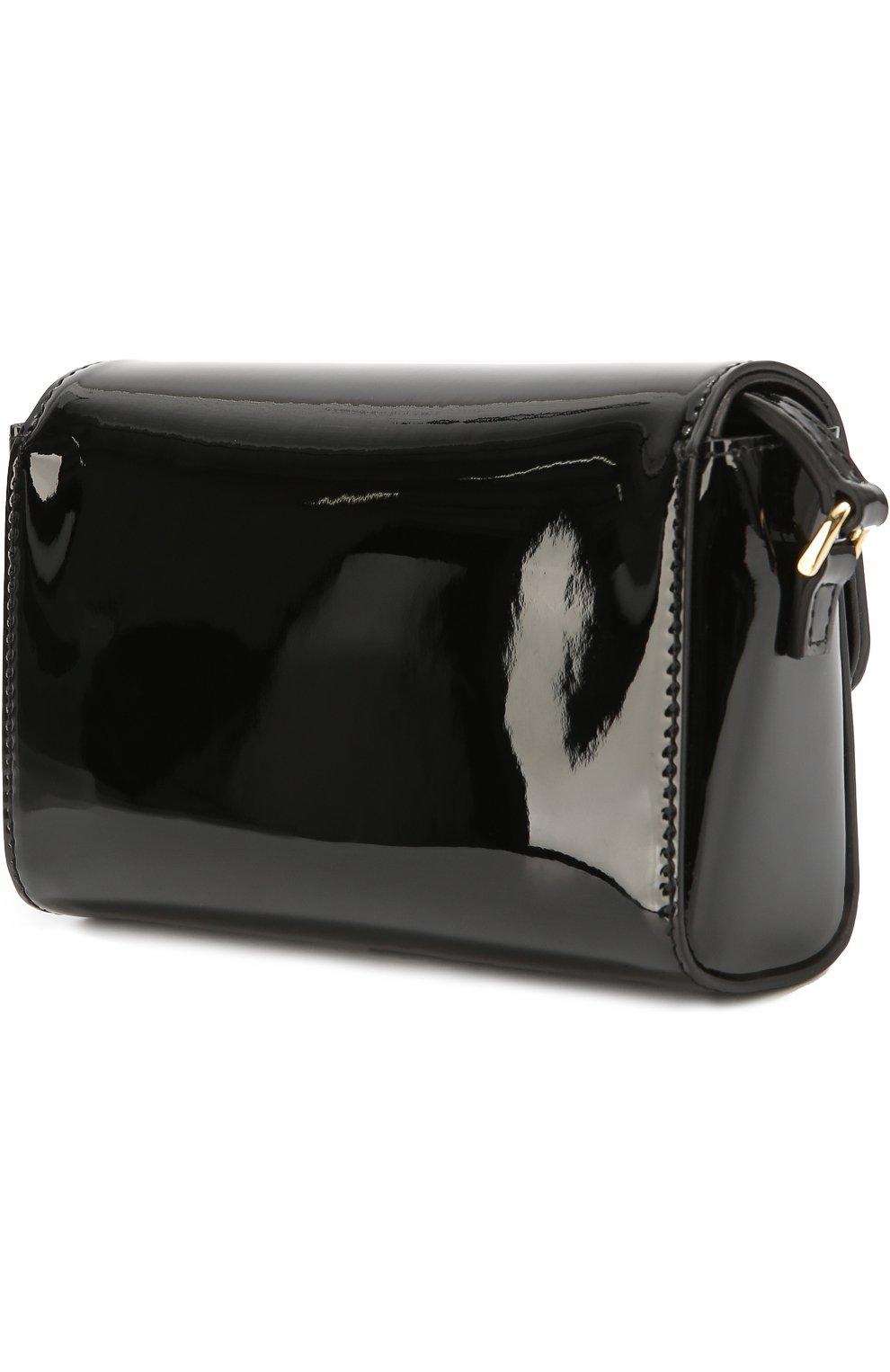 Сумка из лаковой кожи Dolce & Gabbana черного цвета   Фото №2