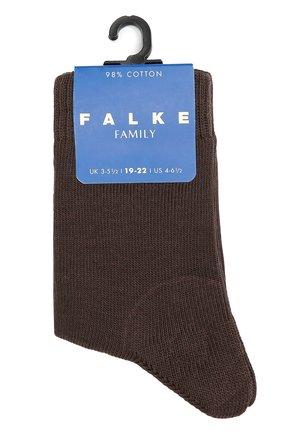 Детские носки из хлопка FALKE коричневого цвета, арт. 10645 | Фото 1