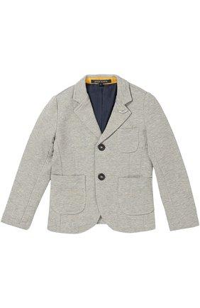Хлопковый однобортный пиджак | Фото №1