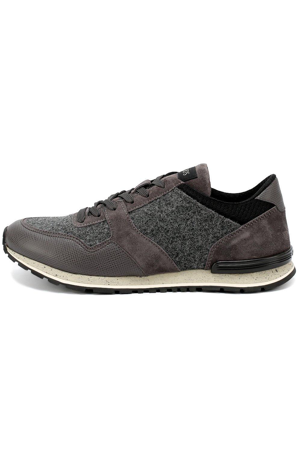 Замшевые кроссовки на рельефной подошве | Фото №1
