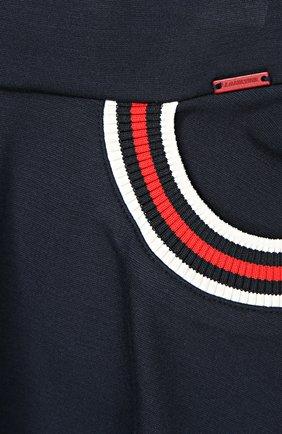 Расклешенная юбка с контрастной отделкой   Фото №2