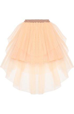Детская пышная многослойная юбка Jean Paul Gaultier розового цвета | Фото №1