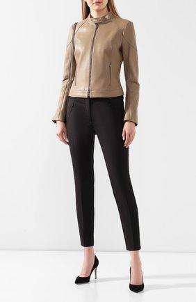 Женские брюки BOSS черного цвета, арт. 50290225 | Фото 2