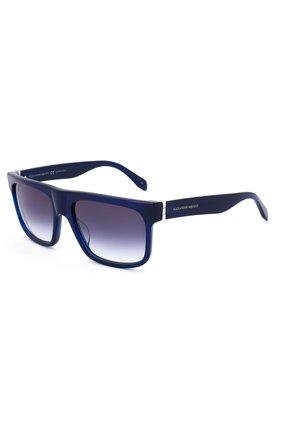 Женские солнцезащитные очки ALEXANDER MCQUEEN синего цвета, арт. 0037 004 | Фото 2