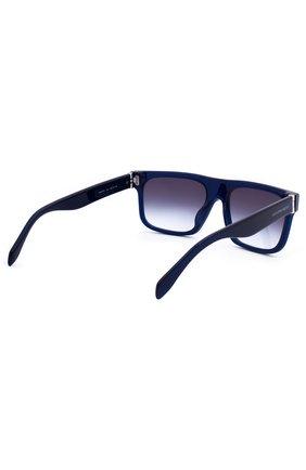 Женские солнцезащитные очки ALEXANDER MCQUEEN синего цвета, арт. 0037 004 | Фото 3