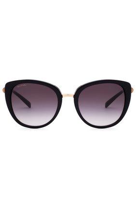 Женские солнцезащитные очки BVLGARI черного цвета, арт. 8177-501/8G | Фото 1