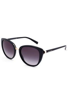 Женские солнцезащитные очки BVLGARI черного цвета, арт. 8177-501/8G | Фото 2