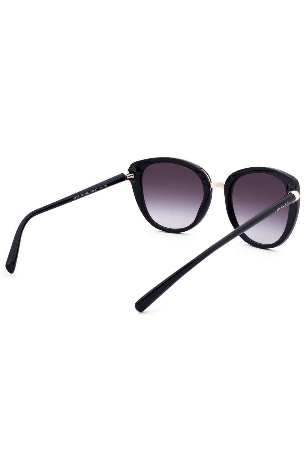 Женские солнцезащитные очки BVLGARI черного цвета, арт. 8177-501/8G | Фото 3