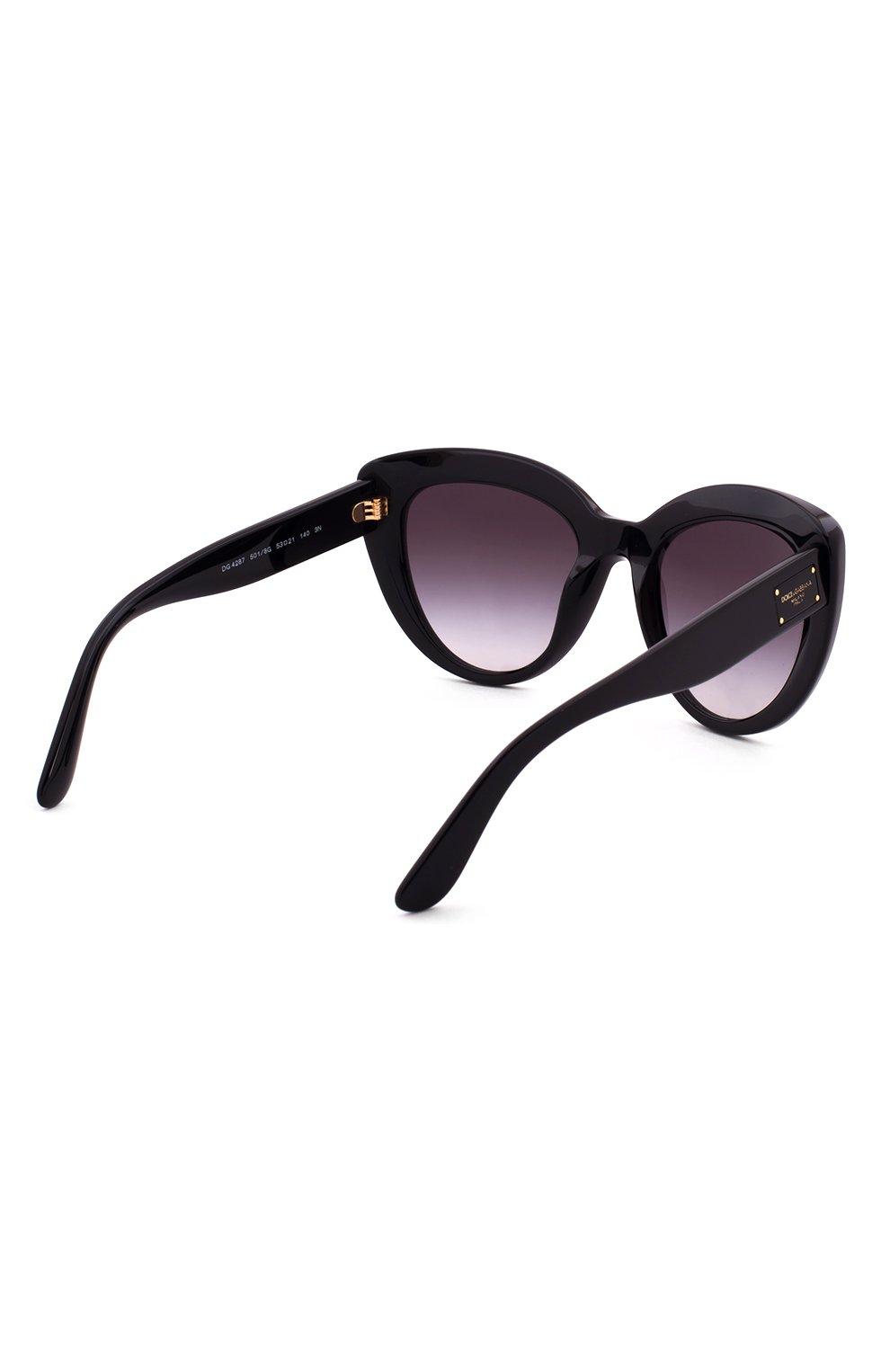 Солнцезащитные очки Dolce & Gabbana черные | Фото №3