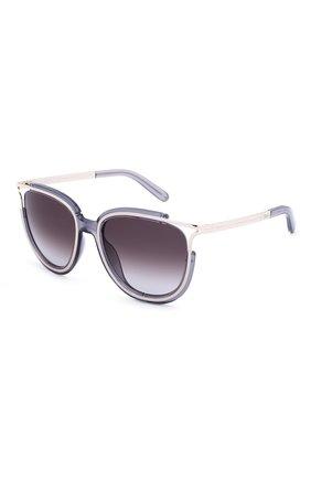 Солнцезащитные очки Chloé фиолетовые | Фото №2