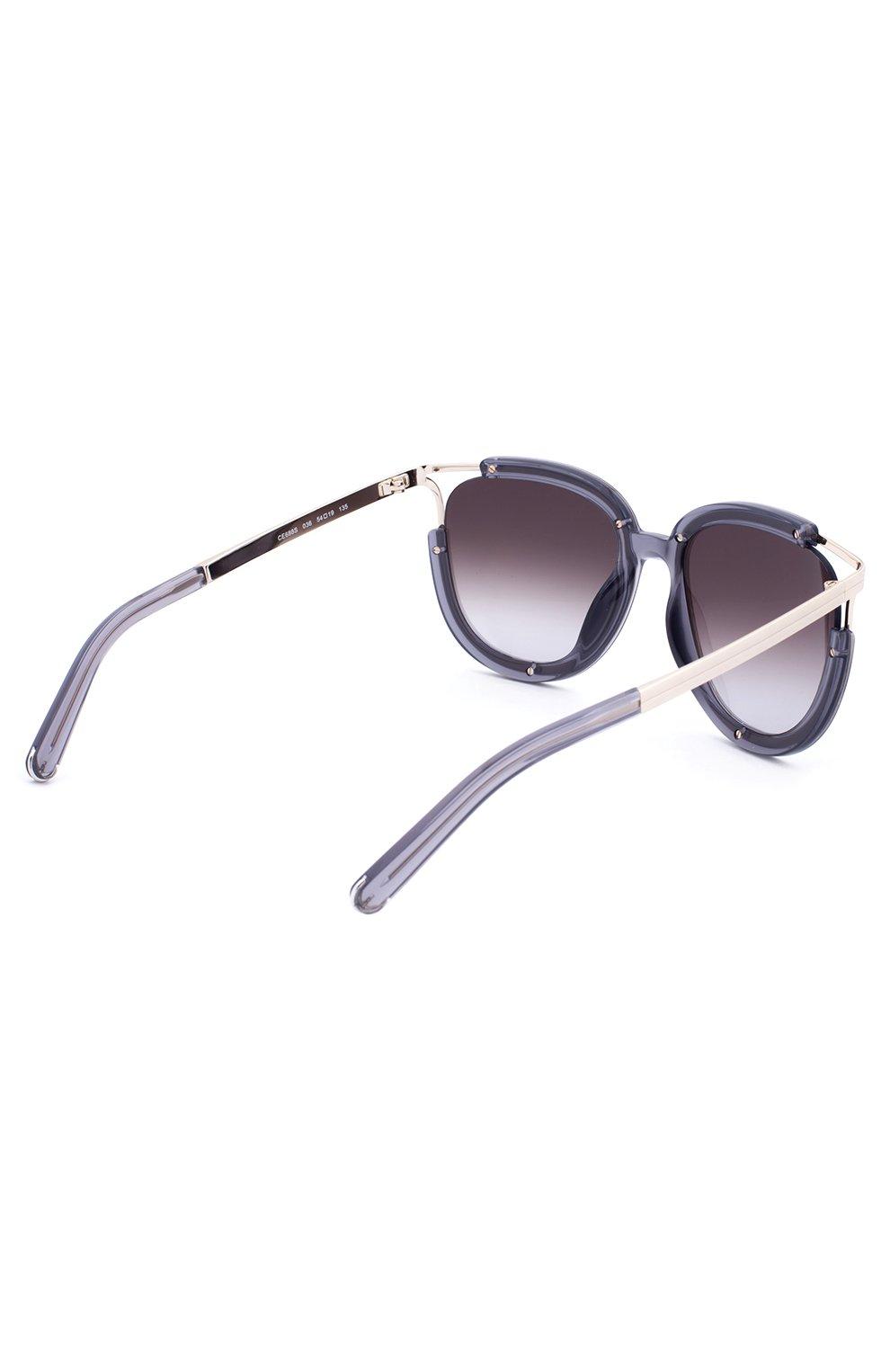 Солнцезащитные очки Chloé фиолетовые | Фото №3