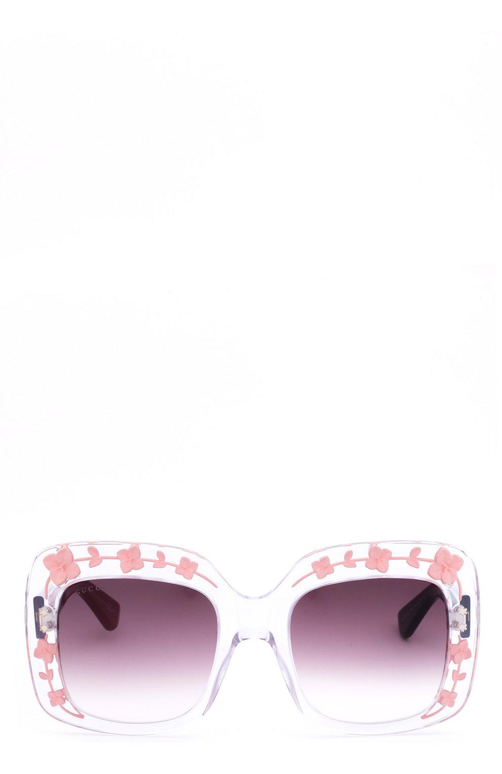 Женские солнцезащитные очки GUCCI прозрачного цвета, арт. 3863 900 J8 | Фото 2
