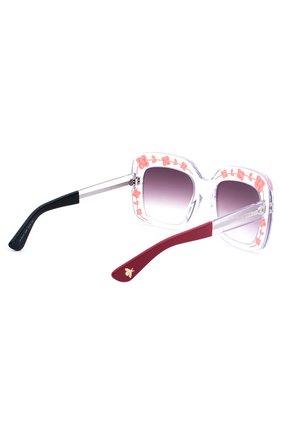 Женские солнцезащитные очки GUCCI прозрачного цвета, арт. 3863 900 J8 | Фото 3
