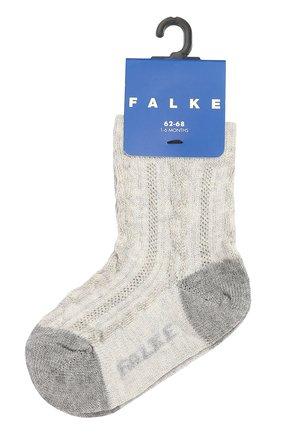 Детские носки из эластичного хлопка FALKE серого цвета, арт. 10096 | Фото 1