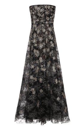 Приталенное платье-бюстье с декоративной вышивкой   Фото №1