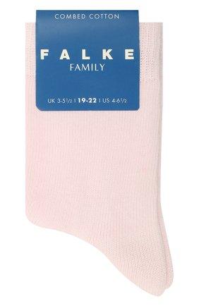 Детские носки из хлопка FALKE розового цвета, арт. 10645 | Фото 1