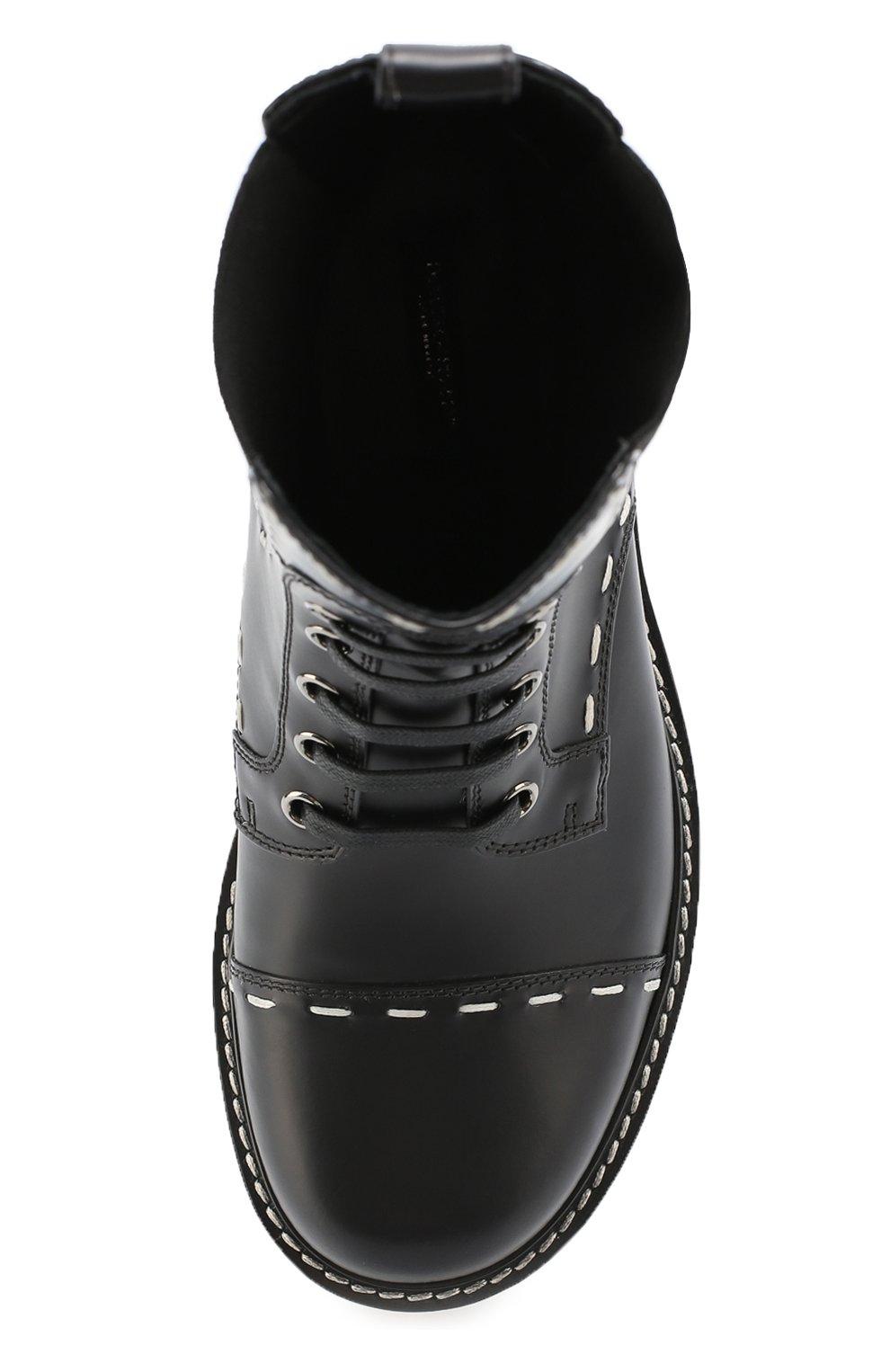 Кожаные полусапоги San Pietro с контрастной прострочкой Dolce & Gabbana черные | Фото №4